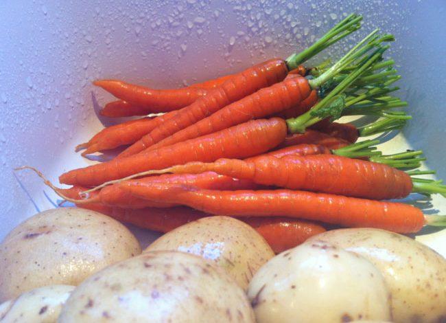 Papas y zanahorias