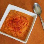 Sopa de zanahoria y patata dulce asada